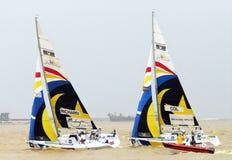 La raza navegante de la taza 2008 de la monzón Imagen de archivo