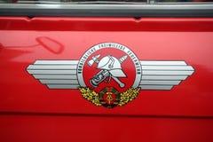 LA RDA - Emblème des sapeurs-pompiers Image libre de droits