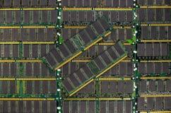 La RDA RAM, mémoire de l'ordinateur ébrèche des modules Image libre de droits