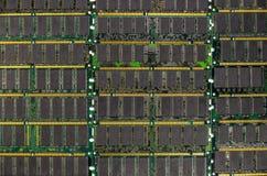 La RDA RAM, mémoire de l'ordinateur ébrèche des modules Photos libres de droits