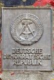 La RDA signent dedans Berlin Photographie stock