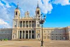 La Real de la Almude de Almudena Cathedral Catedral de Santa Maria Imágenes de archivo libres de regalías