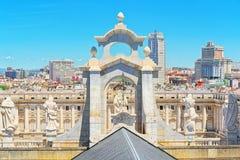 La Real de la Almude d'Almudena Cathedral Catedral de Santa Maria Image libre de droits