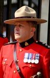 La real policía montada del Canadá Fotografía de archivo