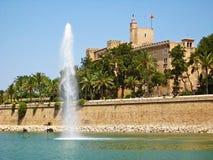 La reale Almudaina, Palma de Majorca di Royal Palace Palacio de Fotografia Stock