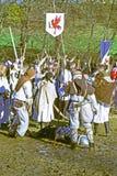 La rebelión a de los campesinos d 1573 , reconstrucción de la batalla final, 7, Donja Stubica, Croacia, 2016 fotos de archivo