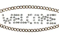 La recepción de la palabra hecha cerca con los diamantes artificiales Fotos de archivo