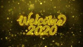 La recepción 2020 desea la tarjeta de felicitaciones, invitación, fuego artificial de la celebración libre illustration