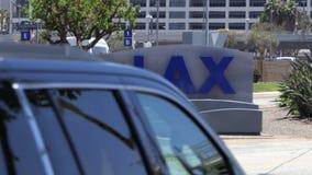 La recepción a LAX firma adentro Los Ángeles almacen de metraje de vídeo
