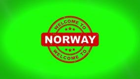 La recepción a NORUEGA firmó el sellado de la animación de madera del sello del texto stock de ilustración