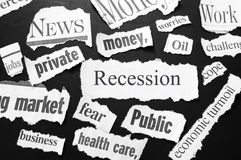 La recesión fotos de archivo