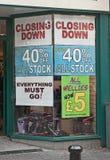 La recesión continúa Foto de archivo libre de regalías
