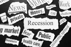 La recessione fotografie stock