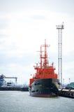 La recherche de force navale et la délivrance lithuaniennes (le SAR) embarquent 'SAKIAI' Photographie stock