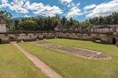 La Recoleccion Architectural Complex in Antigua, Guetemala. It is a former church and monastery of the Order of the Recollects. an royalty free stock images