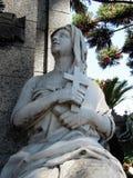 La Recoleta公墓-妇女雕象 库存图片