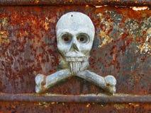 La Recoleta公墓-头骨雕塑 免版税库存图片
