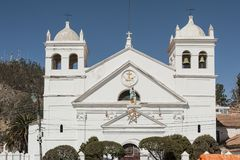 La Recoleta圣安娜修道院是一个方济会修道院在市苏克雷 图库摄影