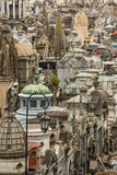 La Recoleta Cemetery behind angel and lamppost Royalty Free Stock Photo