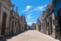 La Recoleta Cemetery. In Buenos Aires, Argentina royalty free stock photography