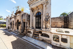 La Recoleta cemetery. Located in the Recoleta neighbourhood of Buenos Aires, Argentina royalty free stock photos