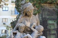 La Recoleta del cimitero Immagine Stock Libera da Diritti