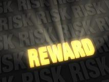 La recompensa bate el riesgo Fotos de archivo libres de regalías