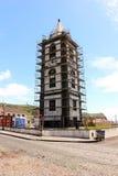 La reconstruction de la tour d'horloge Torre font Relogio dans Horta Île de Faial Photographie stock libre de droits