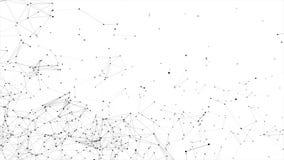 La red abstracta del plexo titula el fondo del lazo de la ciencia de la tecnología ilustración del vector
