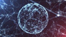 La red abstracta del plexo titula el lazo cinemático del fondo ilustración del vector