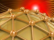 La red de ordenadores significa el web y el establecimiento de una red mundanos ilustración del vector