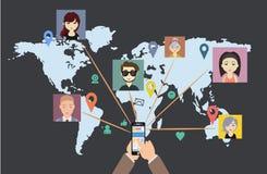 La red social del mundo habla Foto de archivo