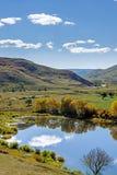 La reflexión del lago la nube Imagen de archivo