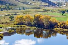 La reflexión del lago la nube Foto de archivo libre de regalías