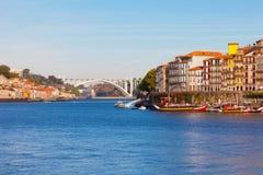 La región de Ribeyr en Oporto, Portugal Fotos de archivo libres de regalías