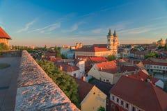 La región hermosa del vino de Eger en Hungría fotografía de archivo libre de regalías