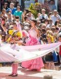 La regina è aumentato nel quadrato centrale di Karlovo in Bulgaria Fotografie Stock