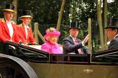 La regina all'ascot Immagine Stock