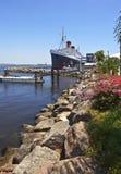 La regina Mary Long Beach California Immagine Stock
