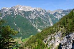 La regione delle alpi del Nord di Limetone in Austria Fotografia Stock Libera da Diritti