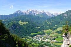 La regione delle alpi del Nord di Limetone in Austria Fotografie Stock Libere da Diritti