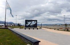 La regione delle isole delle Malvine in Ushuaia Fotografia Stock