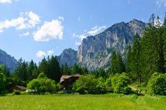 La regione nelle alpi centrali austriache Immagini Stock