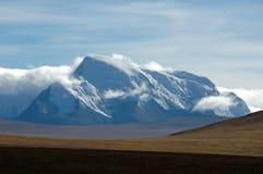 La regione selvaggia e le montagne tibetane Fotografia Stock