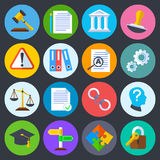 La regulación del negocio, la conformidad legal y los derechos reservados vector iconos planos ilustración del vector