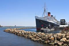 La reina Mary Long Beach California. Imagen de archivo libre de regalías