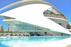 La reina Sofia Palace de los artes, teatro de la ópera en Valencia, España fotografía de archivo libre de regalías