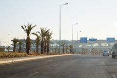 La Reine Alia d'aéroport par adoptif à Amman Images libres de droits