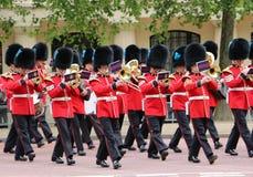 La reine britannique garde la fanfare Photos libres de droits