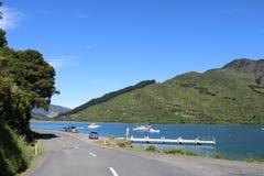 La Reine Charlotte Drive, île du sud NZ de route scénique Photos stock